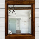 Farmhouse Framed Wall Mirror - 20 Stain Colors