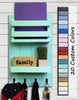 Harvest Rustic Large Vertical Organizer, 20 Paint Colors