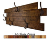 Frazier Farmhouse Coat Rack, 20 Stain Colors