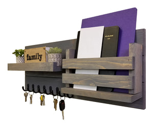 Greatland Wall Mounted Organizer - 20 Stain Colors