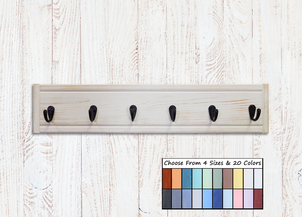 Herringbone Wall Hooks, 20 Paint Colors - Renewed Decor & Storage