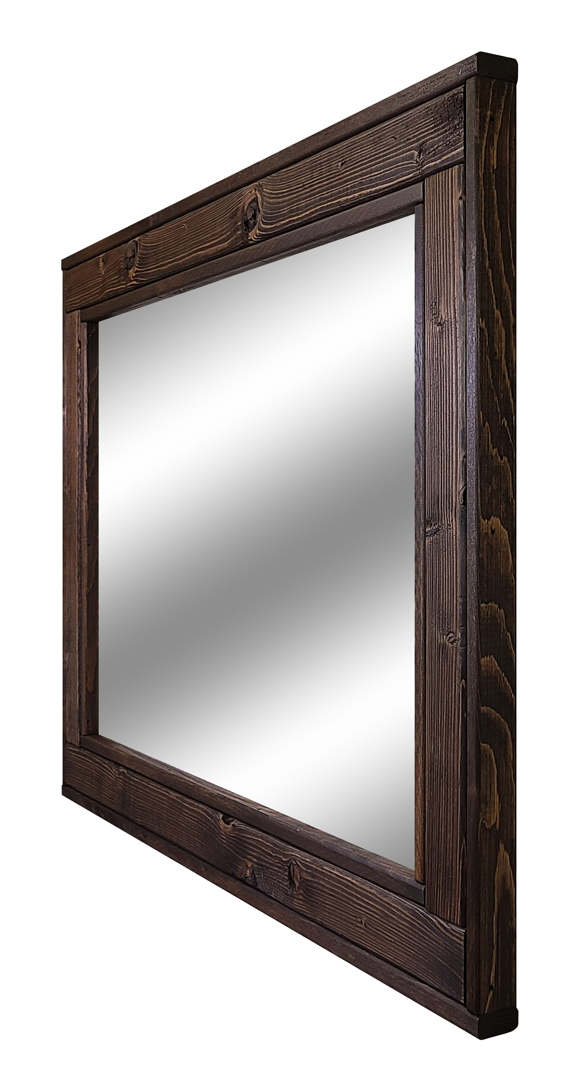 Herringbone Reclaimed Wood Mirror, 20 Stain Colors