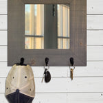 Lakewood Mirror with Hooks, 20 Stain Colors