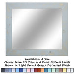 Shiplap Rustic Wood Framed Mirror, 20 Paint Colors