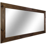 Shiplap Rustic Wood Framed Mirror, 20 Stain Colors