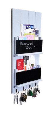 Sydney Dual Pocket Wall Mounted Organizer - Renewed Decor & Storage