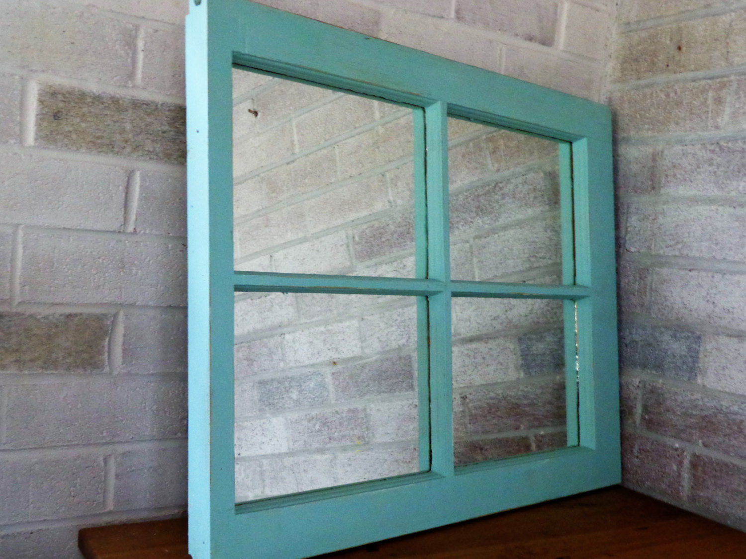 Mirror Wall Decor, Reclaimed Wood Window Mirror – 4 Pane Frame – Decorative Mirror – Vintage Mirror – Wall Decor - Renewed Decor & Storage