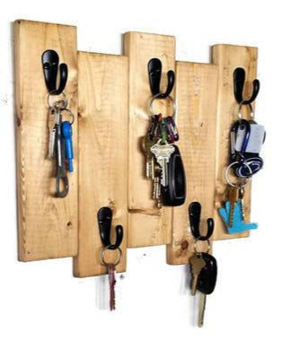 Sydney Key Rack Featuring 5 Hooks Available in 20 Colors Shown in Puritan Pine - Renewed Decor & Storage