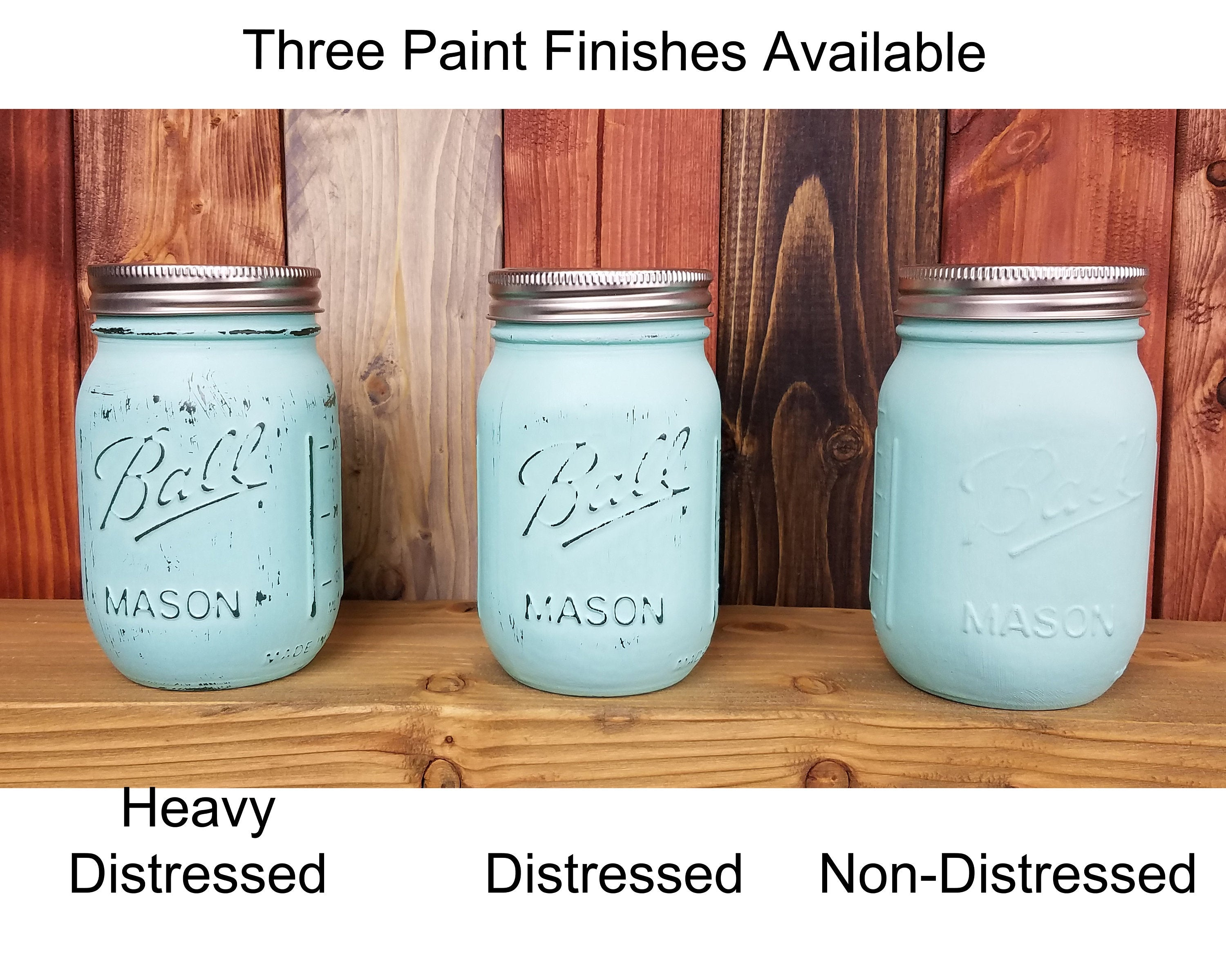 Painted Mason Jar Pump Jar, 20 Paint Colors - Renewed Decor & Storage