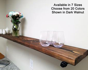 Open Bathroom Industrial Pipe Shelves, Available in 20 Colors - Renewed Decor & Storage