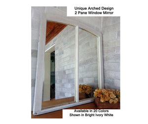 Rustic Window Mirror Unique Arched Design - Renewed Decor & Storage