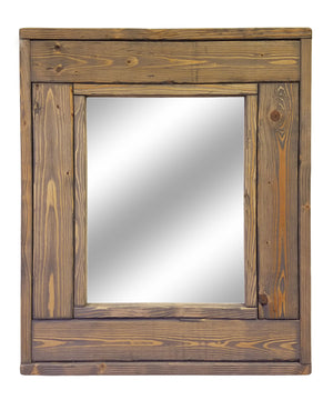 Herringbone Small Accent Mirror, 20 Stain Colors - Renewed Decor & Storage