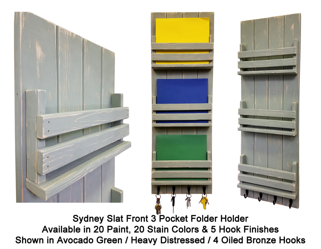 Sydney Slat Front Folder - Renewed Decor & Storage