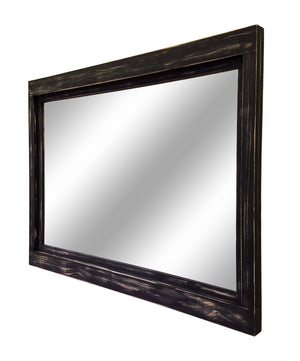 Farmhouse Wood Framed Rustic Mirror, 20 Paint Colors - Renewed Decor & Storage