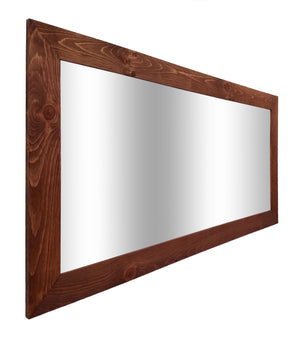Shiplap Reclaimed Wood Mirror Shown in English Chestnut, 4 Sizes & 20 Stains - Renewed Decor & Storage