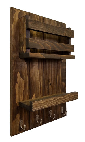 Harvest Rustic Vertical Organizer, 20 Stain Colors - Renewed Decor & Storage