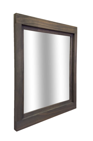Farmhouse Framed Wall Mirror - 20 Stain Colors - Renewed Decor & Storage