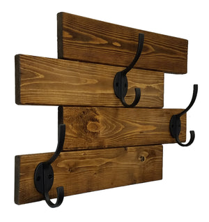 Cabin Wall Mounted Coat Rack - 20 Stain Colors - Renewed Decor & Storage