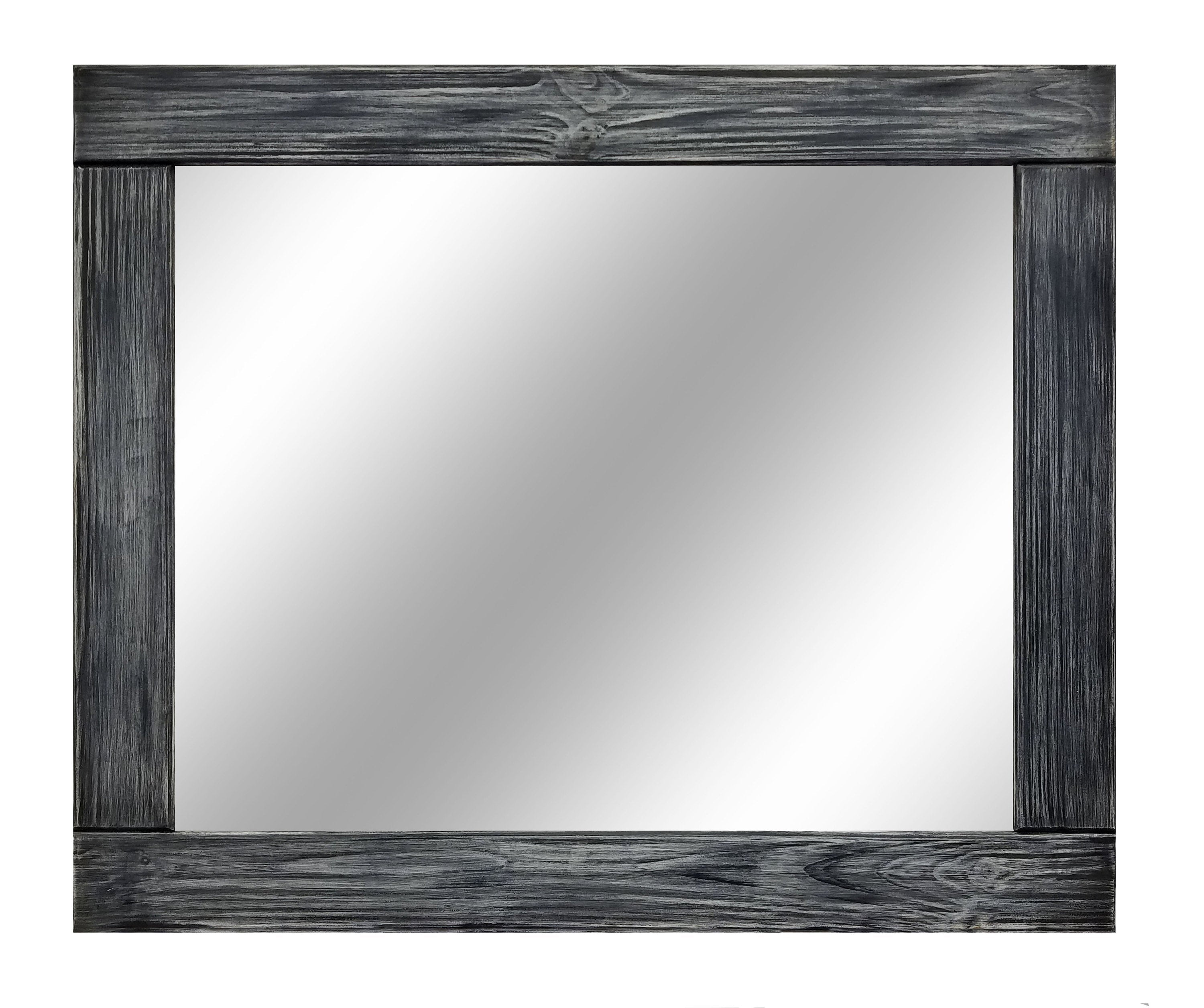Natural Rustic Wall Mirror, Vanity Mirror, Vintage Mirror, Wood Mirror, Bathroom Mirror, Farmhouse Wall Decor, Nursery Decor, Kitchen Decor - Renewed Decor & Storage