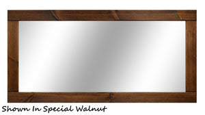 Natural Rustic Wall Mirror, Reclaimed Styled Wood Mirror, Vanity Mirror, Barnwood Mirror, Farmhouse Wall Decor, Bathroom Decor - Renewed Decor & Storage