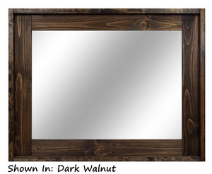 Modern Rustic Wood Framed Wall Mirror - Renewed Decor & Storage