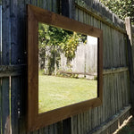 Shiplap Reclaimed Wood Mirror Shown in Special Walnut, 4 Sizes & 20 Stains - Renewed Decor & Storage