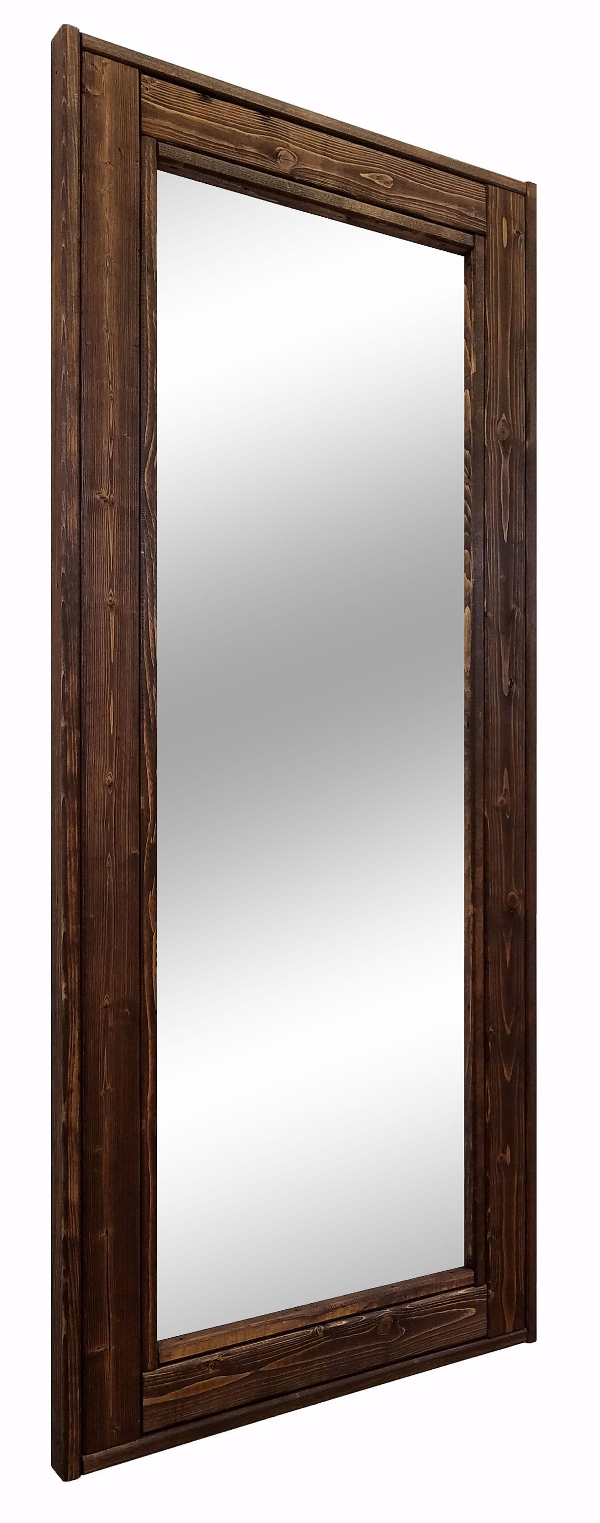 Herringbone Full Length Floor Mirror, 20 Stain Colors - Renewed Decor & Storage