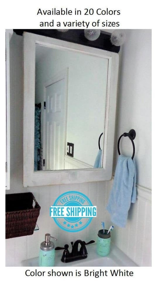 Mirror Wall Decor, Reclaimed Wood Window Mirror – Single Pane Frame – Decorative Mirror - Renewed Decor & Storage