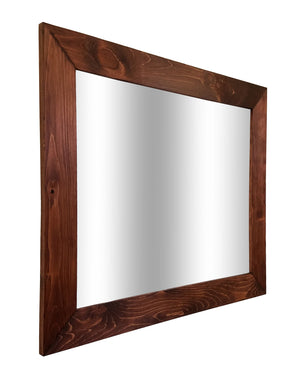 Shiplap Reclaimed Wood Mirror Shown in Red Oak, 4 Sizes & 20 Stains - Renewed Decor & Storage
