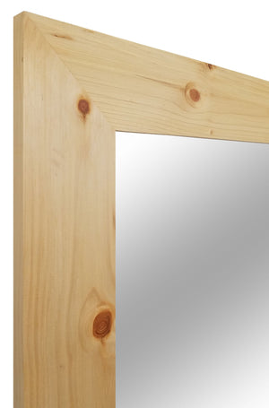 Shiplap Large Wooden Framed Mirror Available in 4 Sizes and 20 Colors: Shown in New Natural Stain - Renewed Decor & Storage