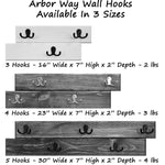 Arbor Way Wall Hooks - 20 Paint Colors - Renewed Decor & Storage