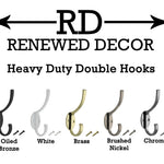 Heavy Duty Double Hook - Renewed Decor & Storage