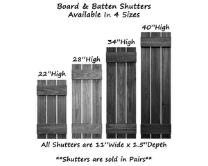 Board & Batten Shutters - 20 Stain Colors - Renewed Decor & Storage