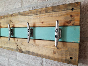 "Boat Cleat 4"" Galvanized Steel - Renewed Decor & Storage"