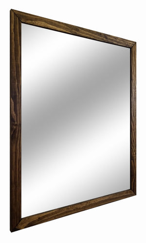Carriage House Framed Mirror - 20 Stain Colors - Renewed Decor & Storage