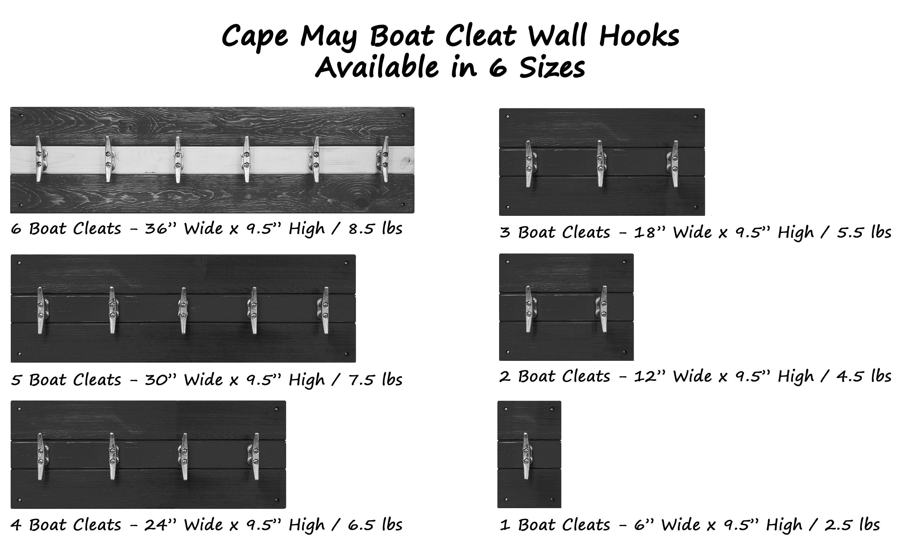 Cape May Boat Cleat Wall Hooks - 20 Paint Colors & 20 Accent Paint Colors - Renewed Decor & Storage