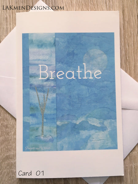 """Breathe"" Greeting Card"