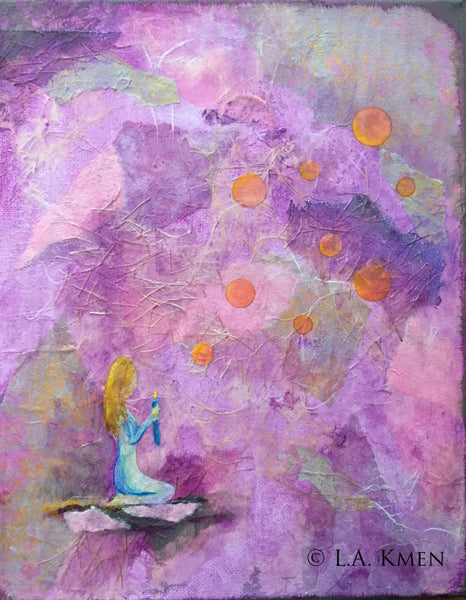 """Gratitude - Bring Light"" Original Mixed Media Art"
