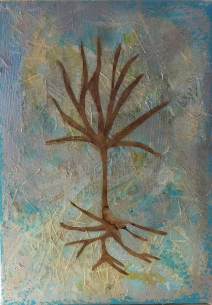 """Roots"" original mixed media art on canvas"