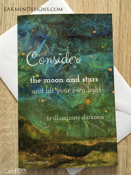 """Consider the Moon..."" Greeting Card"