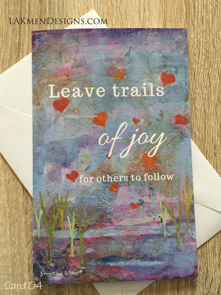 """Leave Trails of Joy"" Greeting Card"