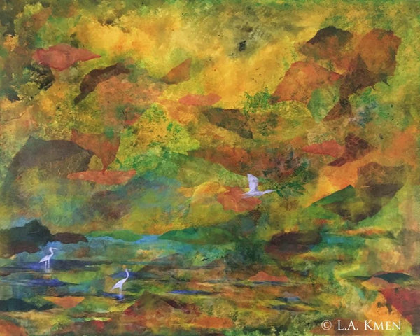 """Tranquility"" original mixed media art"