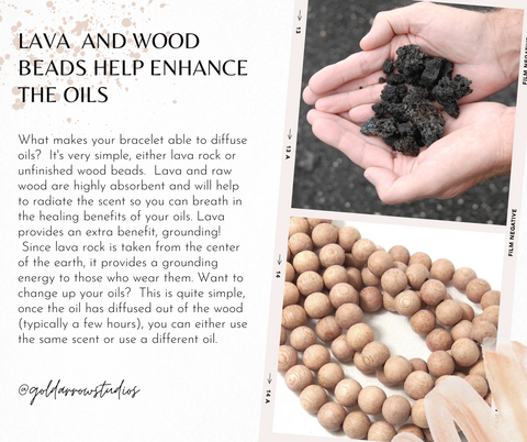 lava and wood diffuser bracelets