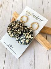 Load image into Gallery viewer, Black and Gold Acrylic Dangle