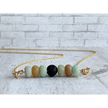 Load image into Gallery viewer, Amazonite Diffuser Necklace - Gold Arrow Studios
