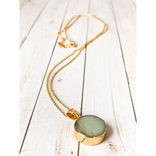 Load image into Gallery viewer, Amazonite Stone Pendant Necklace - Necklace