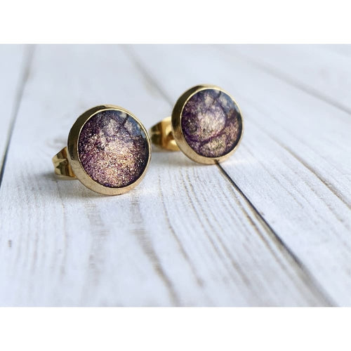 Andromeda Galaxy Stud Earrings - Gold Arrow Studios