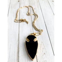 Load image into Gallery viewer, Arrowhead Stone Necklace - Necklace