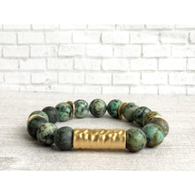 Load image into Gallery viewer, Awaken Stone Bracelet - Gold Arrow Studios