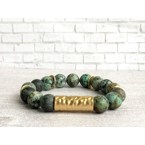 Awaken Stone Bracelet - Gold Arrow Studios